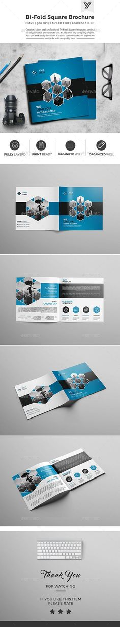 Corporate Bifold Square Brochure 03 — Photoshop PSD #seo #ad • Available here → https://graphicriver.net/item/corporate-bifold-square-brochure-03/17870126?ref=pxcr