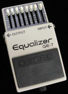 Boss GE-7 Equalizer Guitar Pedal June 1984 430900 Black Label Made in Japan