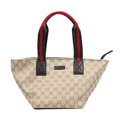 Gucci Original GG Canvas & Leather Small Tote Bag, Beige/moro