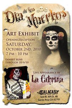 Dia de los Muertos Art Exhibit, Calacas, Santa Ana, October 2, 2010
