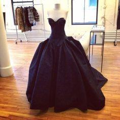gorgeous strapless gown with basque waistline
