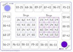 2 Bingos zur Subtraktion Kids Learning Activities, Learning Letters, Mathematics Games, Math Vocabulary, Second Grade Math, Math Art, Math Workshop, Thinking Skills, Math Games