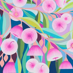 Abstract Flowers, Abstract Art, Flower Prints, Flower Art, Gouache Painting, Limited Edition Prints, Art Images, Art Drawings, Illustration Art