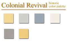 colonial colors paint interior exterior revival palette dutch schemes historic farmhouse spanish yellow recipies homes houses british