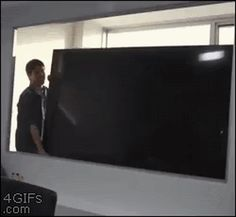 Funny Television Office Prank Gif