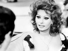 Sophia Loren and Marcello Mastroianni. Paired Together For Shooting of