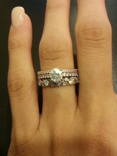 Wedding Sets On Pinterest Mixed Metals Band And Stacked Wedding