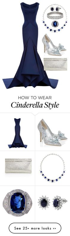 """""""And The Oscar Goes To..."""" by jeanne-lemaire-romero on Polyvore featuring Zac Posen, Effy Jewelry and Jimmy Choo"""