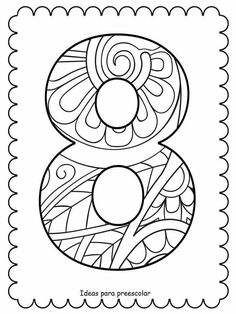 Math 4 Kids, Coloring Books, Coloring Pages, Number Art, Letter Stencils, Letters And Numbers, Early Learning, Pre School, Math Activities