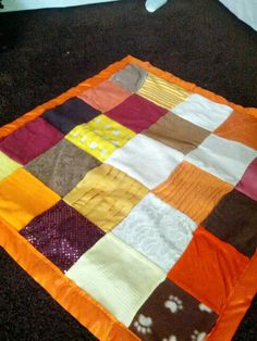 Sensory integration blanky. Each square is a different texture for sensory integration for your developing little one. LOVE IT