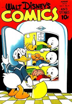 A cover gallery for the comic book Walt Disney's Comics and Stories Vintage Cartoons, Vintage Comic Books, Classic Cartoons, Vintage Comics, Cool Cartoons, Classic Comics, Disney Duck, Disney Art, Disney Pixar