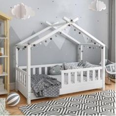 Toddler Floor Bed, Toddler House Bed, Diy Toddler Bed, Toddler Rooms, Baby Boy Rooms, Toddler Beds For Boys, Wooden Toddler Bed, Toddler Bedding Girl, Baby Floor Bed