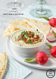 Creamy White Bean and Bacon Dip - Fork Knife Swoon - Fork Knife Swoon