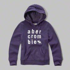 girls applique logo graphic hoodie