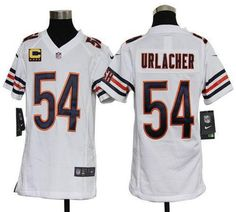 Nike Bears #54 Brian Urlacher White With C Patch Youth Embroidered NFL Elite Jersey prices USD $23.50 #cheapjerseys #sportsjerseys #popular jerseys #NFL #MLB #NBA