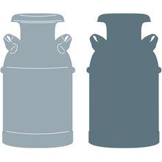 Silhouette Design Store - View Design #26464: milk can