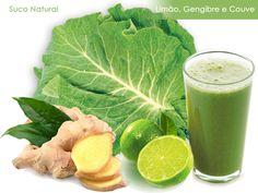 DIETA: Suco de limão, couve e gengibre para emagrecer | http://modaefeminices.com.br/2014/09/14/dieta-saude-suco-de-limao-couve-e-gengibre/