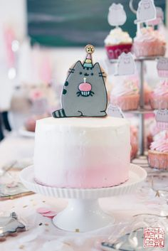 Pusheen Birthday Party for a 4 Year Old - Dessert First