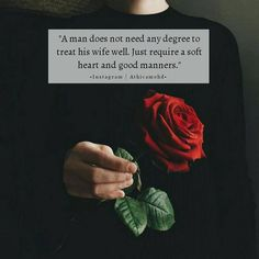 "1,758 Suka, 4 Komentar - Athicamohd (@inspiringmuslimxh) di Instagram: ""A man does not need any degree to treat his wife well. Just require a soft heart and good manners. ❤"""