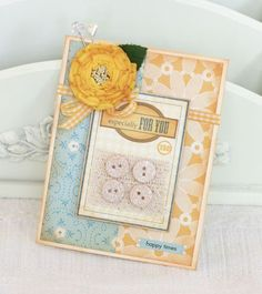 """""""For You"""" card - uses Maya Road Stamp Set """"Cute as a Button"""""""