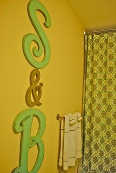 wooden letters for kid bathroom