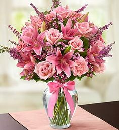 Beautiful #flowers #pink #Floral Arrangement