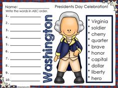 "Your students will vote ""YES!"" when you use these activities celebrating Presidents Day! Over 150 pages of print and go printables and activities!! These Presidents Day printables are ideal for morning work, the writing center, stations, independent practice, small groups, homework, 5-minute fillers, early finishers or even sub plans and are the perfect addition to your Presidents Day unit! $ #presidentsday #georgewashington #abrahamlincoln #education #tpt #sheilamelton #teacherspayteachers"