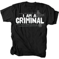 Christian T-shirt In Many Countries I Am A Criminal-xxl Gardenfire http://www.amazon.com/dp/B00G2D6BSO/ref=cm_sw_r_pi_dp_BgJOtb0D9S79JDM8