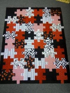 puzzle quilts... great for kids.