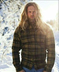 Lasse Matberg by Julia Kalvik for Coca Cola I Love Beards, Beard Love, Norwegian Men, Norwegian Vikings, Long Hair Beard, Goth Guys, Men Hair Color, Boys Long Hairstyles, Raining Men