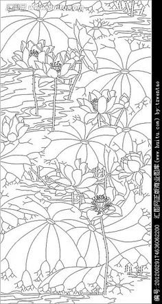 Japanese Ink Painting, Korean Painting, Chinese Painting, Japanese Art, Lotus Drawing, Lotus Painting, Silk Painting, Watercolor Paintings, Colouring Pages