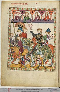 Cod. Pal. germ. 848: Cod. Pal. germ. 848 Große Heidelberger Liederhandschrift (Codex Manesse) (Zürich, ca. 1300 bis ca. 1340) pag.11v
