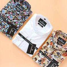 The Venize floral button-down, North white & Kirsinger button-down shirt :necktie::point_up_2:
