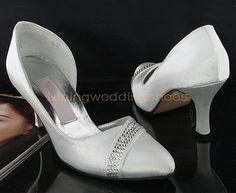 white beaded satin wedding shoes high heel bridal shoes