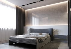 MINIMAL and visualization: Stephen Tsimbalyuk, Vadim KuchmanTotal area: 144 sq.mClient: Middle aged bussinesman with teenage sonArchAnts Team Luxury Bedroom Design, Master Bedroom Design, Home Bedroom, Bedroom Decor, Bedroom Modern, Girls Bedroom, Bedroom Ideas, Home Interior, Interior Design