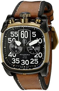 CT Scuderia Men's CS70101 Scrambler Analog Display Swiss Quartz Brown Watch by CT Scuderia -- Awesome products selected by Anna Churchill