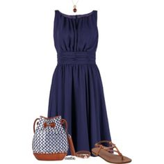 Navy Summer Dress