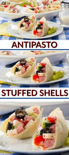 Here's a fun way to serve antipasto at your next potluck. Use it as filling for jumbo-sized pasta shells!