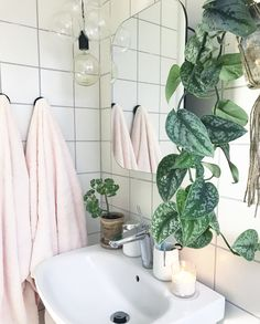 Bathroom Inspiration, Interior Inspiration, Bathroom Plants, Dream Apartment, Dream Bathrooms, Bathroom Styling, Bathroom Interior, Home Bedroom, Home And Living