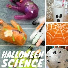 Nothing goes together better than Halloween science ideas and kids! I can't tell you how much I love the fun activities the Halloween season brings around here. We particularly love Halloween science! Join us for a Top 10 Halloween blog hop and stick around as we count down with 31 Days of Halloween STEM { NEW this year}. You are sure to find tons of ideas to make your Halloween amazing! AWESOME HALLOWEEN SCIENCE IDEAS FOR KIDS Halloween Activities For Toddlers, Halloween Science, Halloween Arts And Crafts, Science Experiments For Preschoolers, Cool Science Experiments, Holiday Activities, Science For Kids, Science Ideas, Elementary Science