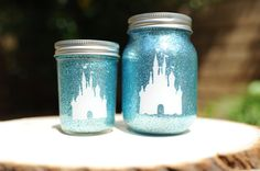 Tinted Glitter Mason Jar Disney -- i don't know what i would use this for but i need it