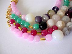 Jade and agata Beads bracelet