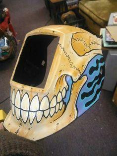 The art of price jones custom welding helmet