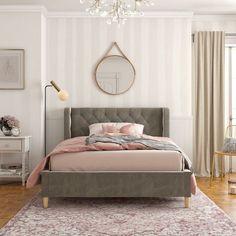 Little Seeds Monarch Hill Ambrosia Full Platform Bed , Room Makeover, Pink Bedding, Bed, Full Platform Bed, Full Size Upholstered Bed, Bed Frame, Platform Bed, Upholstered Beds, New Room