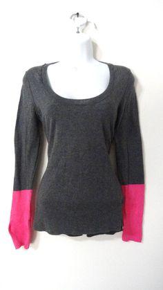 Moda International Victoria Secret Long Sleeve Top Shirt  Tee Cotton Medium M #ModaInternational #Top