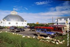 The Igloo Church in the summer. Northwest Territories, Canada Travel, First Nations, North West, Trip Planning, Places To Travel, Places Ive Been, Paths, The Neighbourhood
