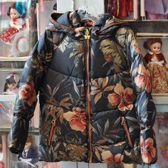 Fancy this! Sporty flair abounds in this girls floral down jacket. Detachable hood. From Scotch R'Belle (Amsterdam fashion label). $163 || The Children's Hour Bookstore & Boutique || Clothing  Gifts  Toys  Shoes || 898 South 900 East || Salt Lake City Utah || 801.359.4150 || childrenshourbookstore.com