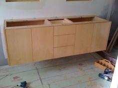 Attractive How To Hang A Floating Vanity · Bathroom UpdatesBathroom RenovationsDiy ...