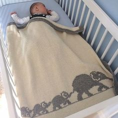 Baby Knitting Patterns Knitting Pattern for Elephant Family Baby Blanket - Finished size of the blanket: 85 x 80 cm * 87 inches). Pattern is in English and French. Designed by Mathilde R Baby Baby Knitting Patterns, Knitting For Kids, Baby Patterns, Blanket Patterns, Free Knitting, Crochet Pattern, Knitting Charts, Elephant Family, Baby Elephant