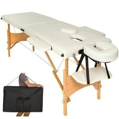 Table de massage pliante 2 Zones Bois, cosmétique, lit de massage portable Beige TECTAKE + Housse sac de transport. • Notre table de massage vous assure une expérience de massage unique avec une garantie de bien-être. • La table de massage est prête en quelques secondes. • Elle peut être facilement